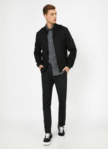 Koton Cep Detayli Pantolon Siyah